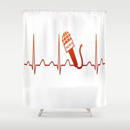 NEWSCASTER HEARTBEAT Shower Curtain
