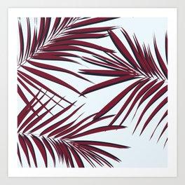 Boho palm leaf Art Print