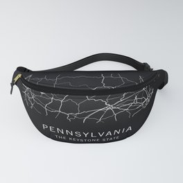 Pennsylvania State Road Map Fanny Pack