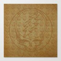 grateful dead Canvas Prints featuring Vintage Grateful Dead Steal Your Face Pattern by Studio 535