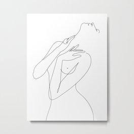 wake woman line Metal Print