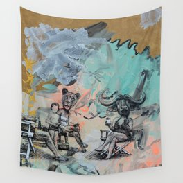 Only plateaus offer a place to rest. Wall Tapestry