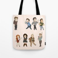 dance Tote Bags featuring Dance by kendrawcandraw