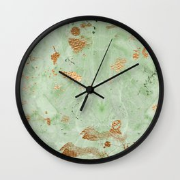 Copper & Marble Wall Clock