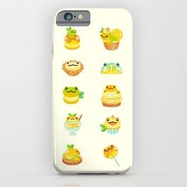 Sweet Lemon frog iPhone Case