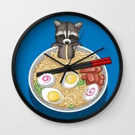 Raccoon Ramen Wall Clock