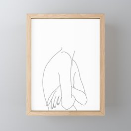 Figure line drawing illustration - Jem Framed Mini Art Print