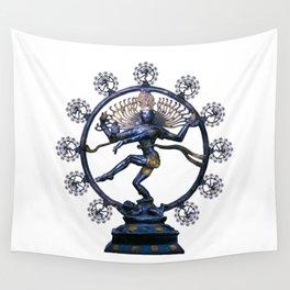Shiva Nataraj, Lord of Dance (an actual factual fractal) Wall Tapestry