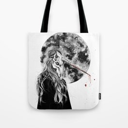 The mask won´t hide your empty heart Tote Bag