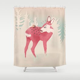 Oh deer, what the bug?! Shower Curtain