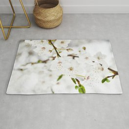 White blooming Rug
