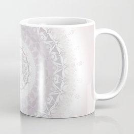 Floral Damask Mandala Blush White Coffee Mug