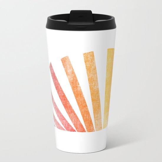 Raising sun (rainbow-ed) Metal Travel Mug