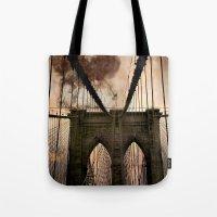 bridge Tote Bags featuring Bridge by Daniela Battaglioli
