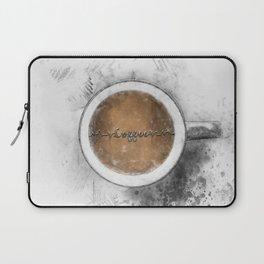 Coffee Heartbeat Laptop Sleeve