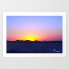 Cali Sunset Art Print