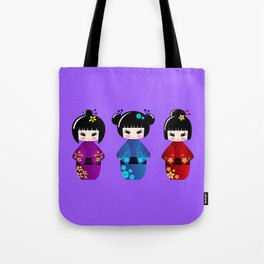 Cute kokeshi dolls cartoon Tote Bag