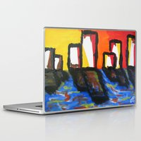depression Laptop & iPad Skins featuring Depression Begins by Greg Mason Burns