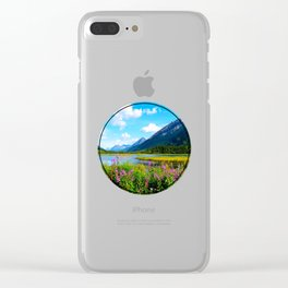 God's Country - Summer in Alaska Clear iPhone Case