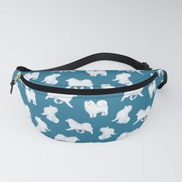 Samoyed Pattern (Blue Background) Fanny Pack