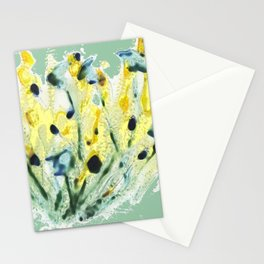 Minty Green Meadow Stationery Cards