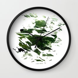 Abstract Acrylic Painting  Broken Glass THE FOREST --Modern art Wall Clock