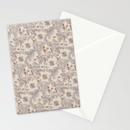 Party Critters in Cream ( leafy sea dragon in cream and coral ) Stationery Cards