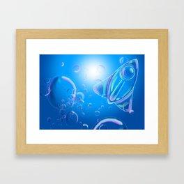 Bubble Rocket Framed Art Print