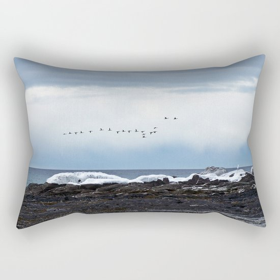 Winter Flight Rectangular Pillow