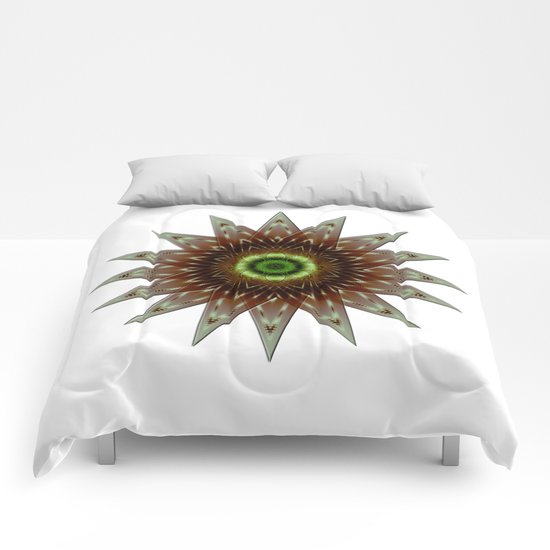 Fractal Wind Rose Comforters