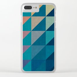 Colorful square composition V Clear iPhone Case