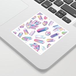 Purple Crystals Sticker