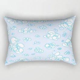 Soft Fluffy Cloud Doodle Rectangular Pillow