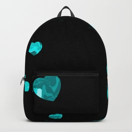 Chaotic Hearts Light Blue Dapple Backpack