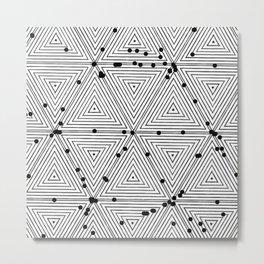 Mesmeric geometry Metal Print