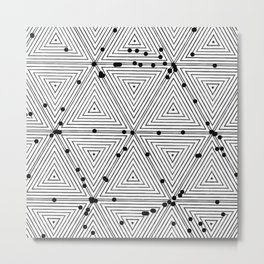 Mesmeric geometry Metal Print