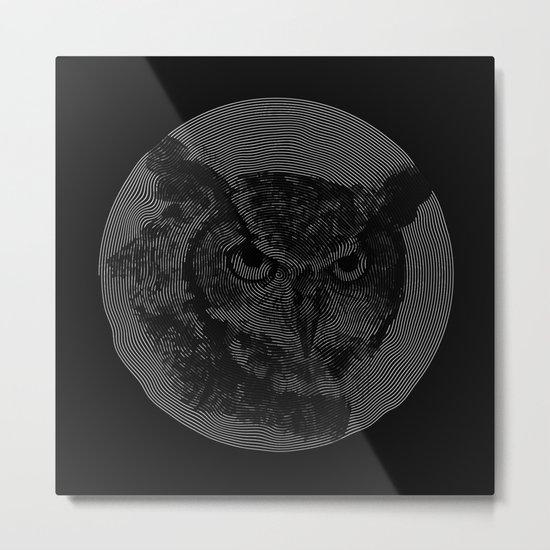 spiral owl Metal Print
