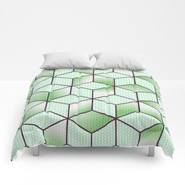 Electric Cubic Knited Effect Design Comforters