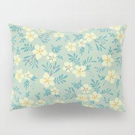 Pretty floral pattern. Light yellow flowers. Pillow Sham