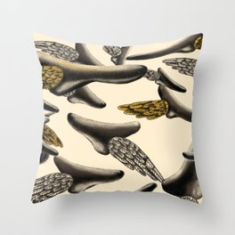 Flying noses Throw Pillow