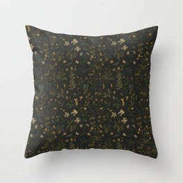 Old World Florals Throw Pillow