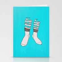 socks Stationery Cards featuring SOCKS by The Flying Fortress