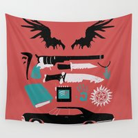 supernatural Wall Tapestries featuring Supernatural by Abbie Imagine