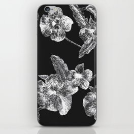 Flower Scratchboard iPhone Skin