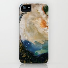 Champagne Pool II - Aerial Wall Art, Volcanic Print, Colorful Drone Photography, Aerial New Zealand iPhone Case