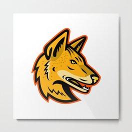 Arabian Wolf Head Mascot Metal Print