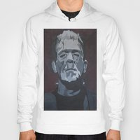 frankenstein Hoodies featuring Frankenstein by Paintings That Pop