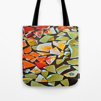 mosaic Tote Bags featuring Mosaic by Maggie Dylan