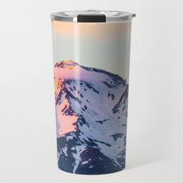 Mount Shasta Sunset Glow Travel Mug