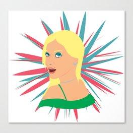 Portrait of a Surprised Blonde Canvas Print
